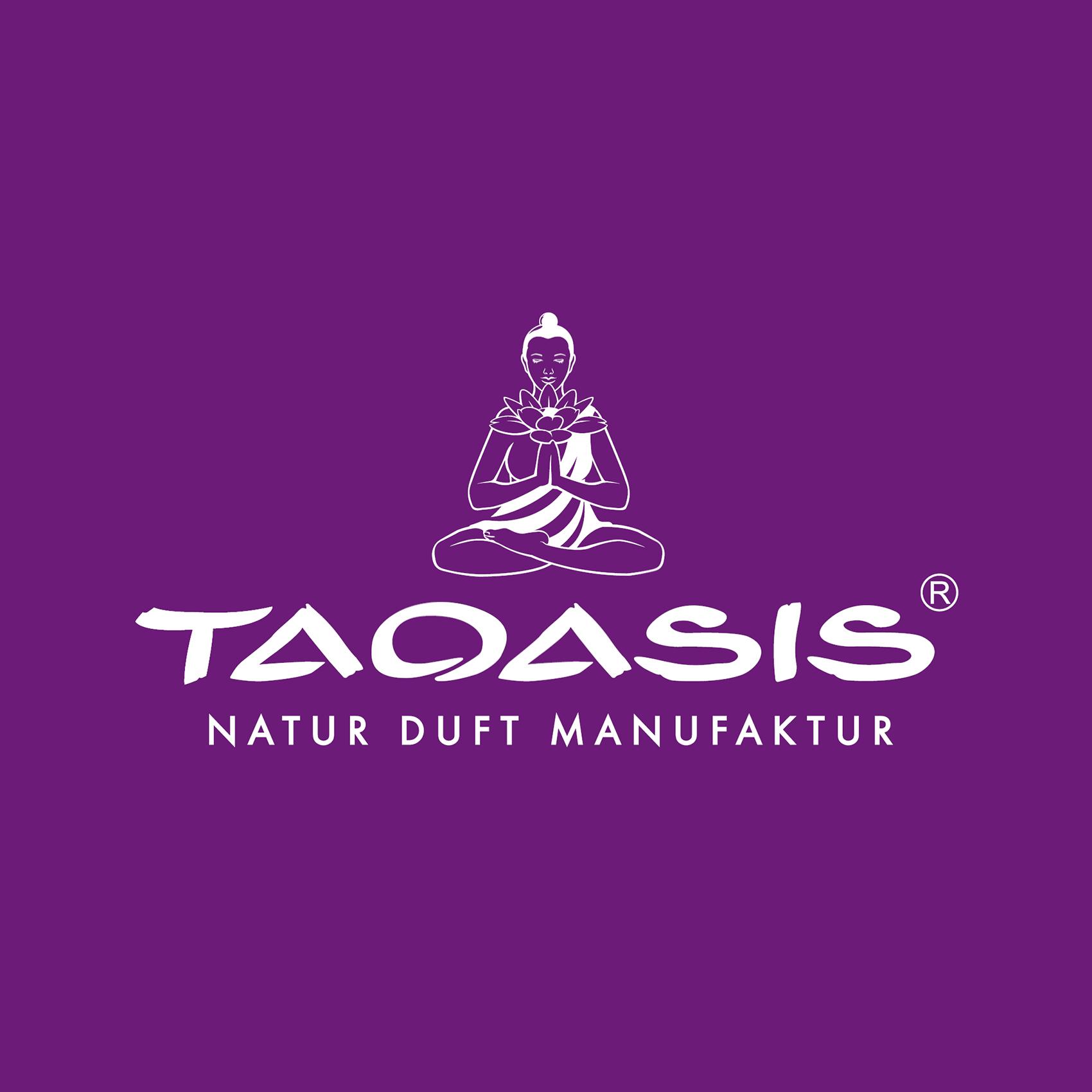 Logo Taoasis weiss auf Lila