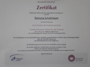 Zertifikat Akademie der Düfte e