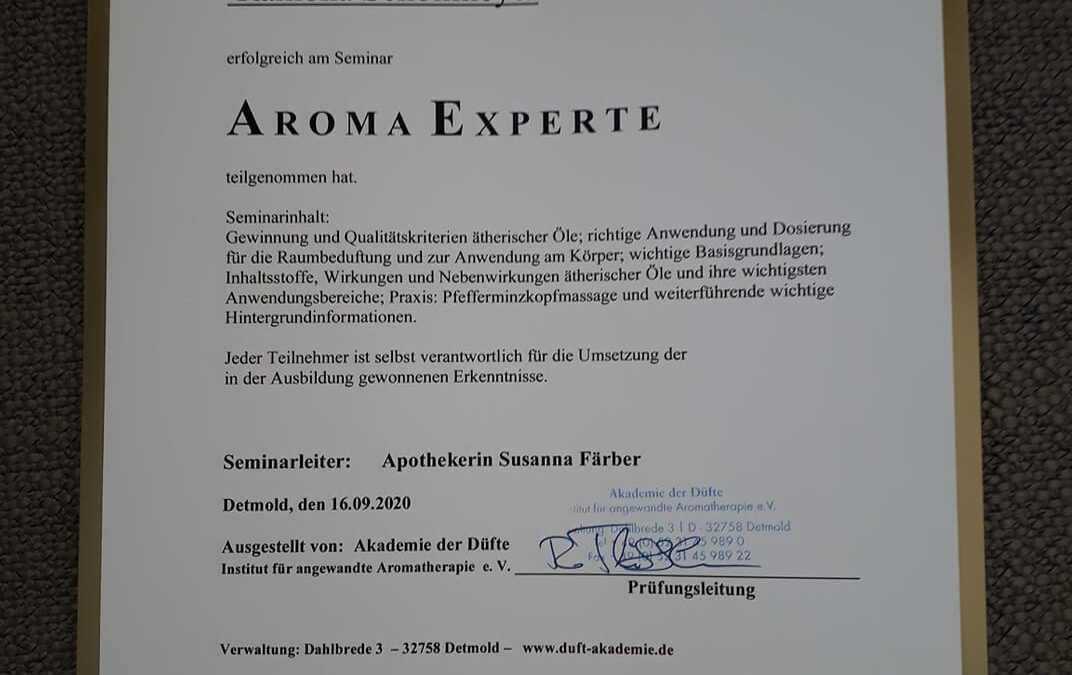 Ausbildung zur Aroma-Expertin